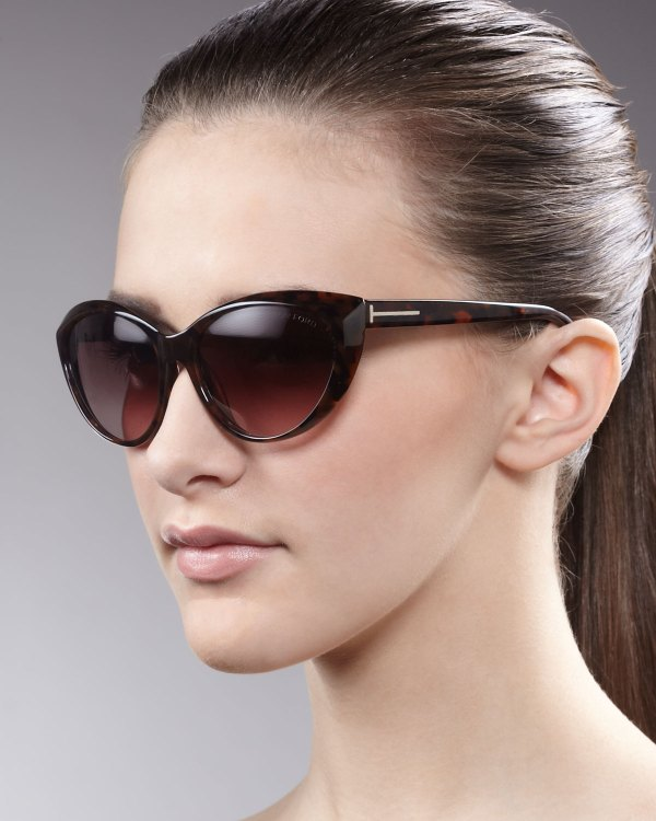 Tom Ford Martina Cateye Sunglasses In Brown Lyst