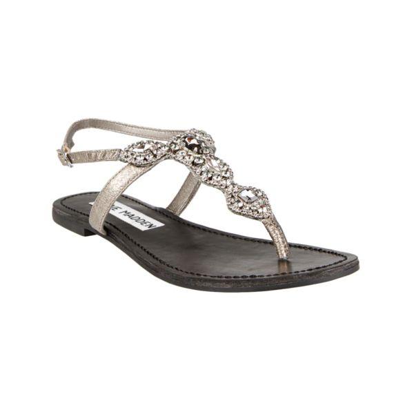 Steve Madden Glaare Flat Sandals In Metallic Lyst