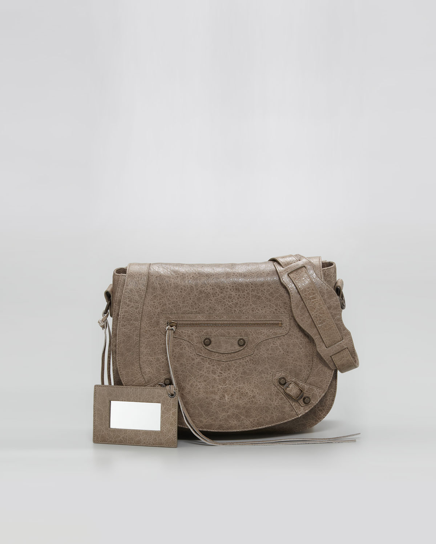 Balenciaga Classic Neo Folk Bag Gris Poivre In Gray Lyst