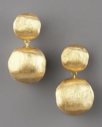 Lyst - Marco Bicego Brushed Gold Drop Earrings in Metallic