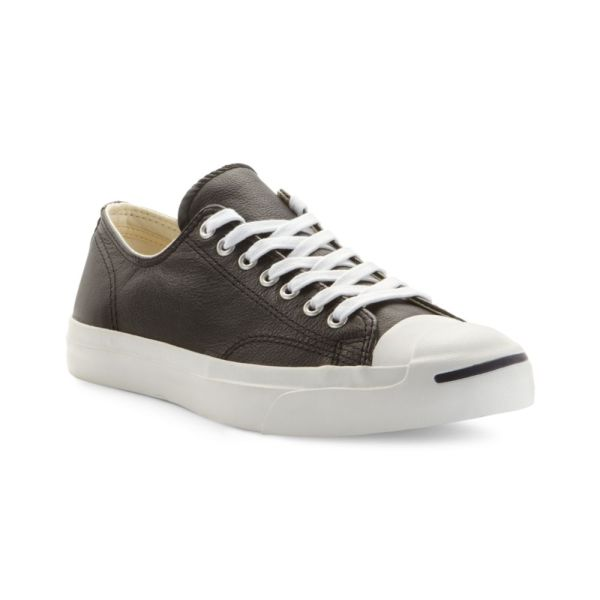 Converse Jack Purcell Leather Oxford Sneakers In Black