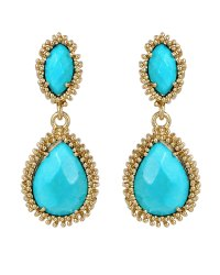 Kendra Scott Turquoise Twostone Drop Earrings in Blue