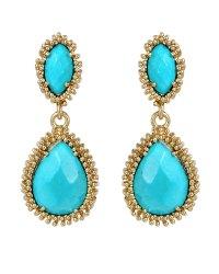 Kendra Scott Turquoise Twostone Drop Earrings in Blue ...