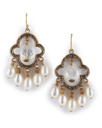 Stephen Dweck Clovershaped Earrings in Gold (bronze)