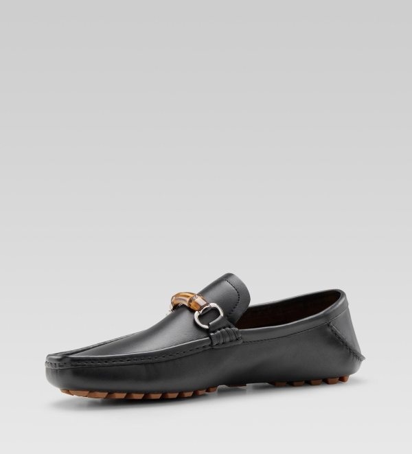 494bf9f51 Lyst - Gucci Moccasin With Bamboo Horsebit In Brown Men