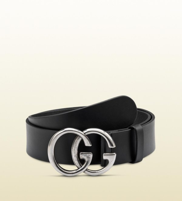 Gucci Belt With Double Buckle In Black Men Lyst