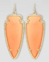 Kendra Scott Skylar Arrow Earrings in Pink (salmon) | Lyst