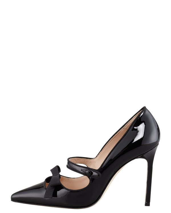 Lyst - Manolo Blahnik Fiocam Patent Leather Mary Jane Pump