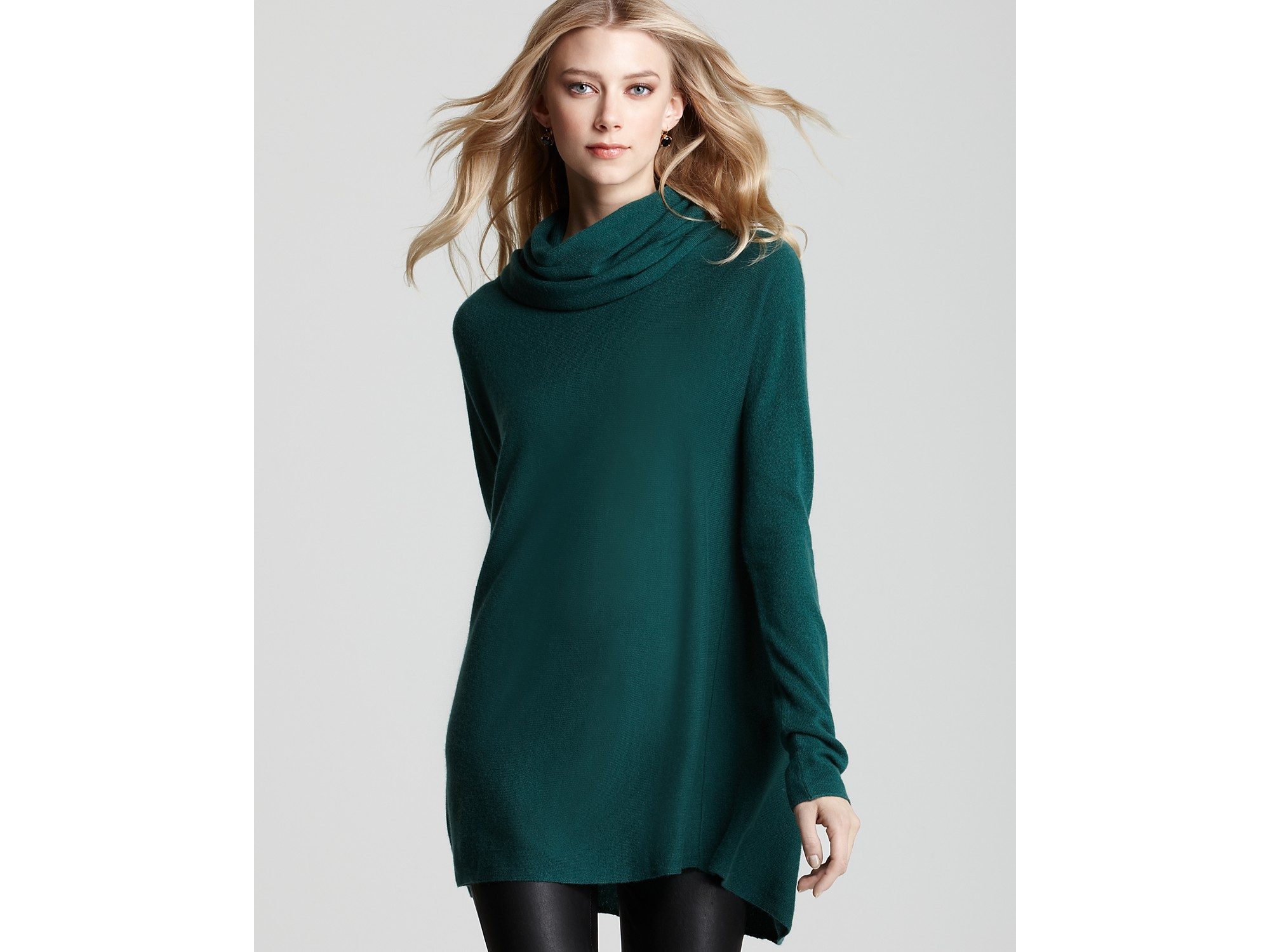 Vince Sweater Cowl Neck In Green