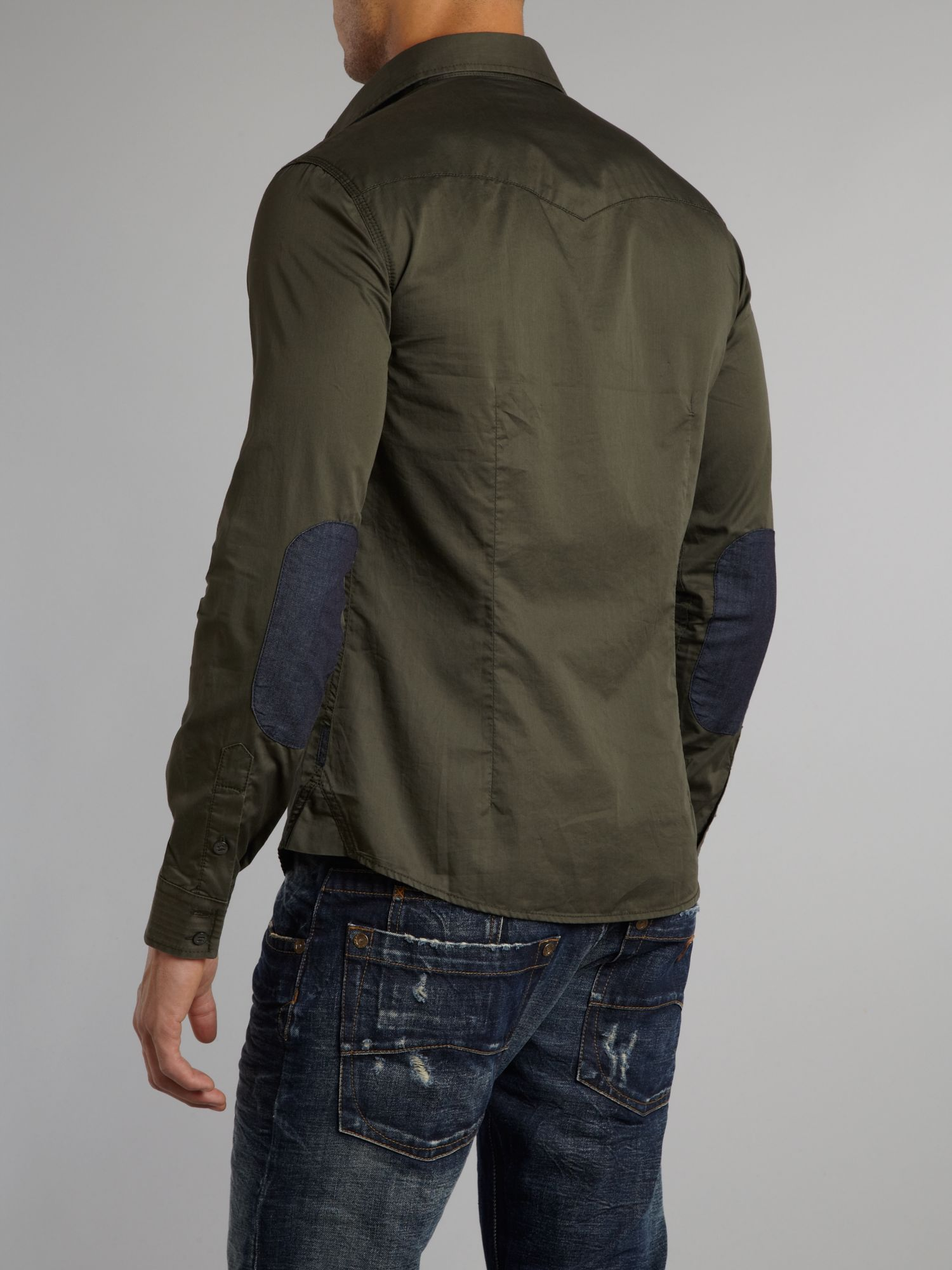 Armani jeans Patch Pocket Shirt in Green for Men  Lyst