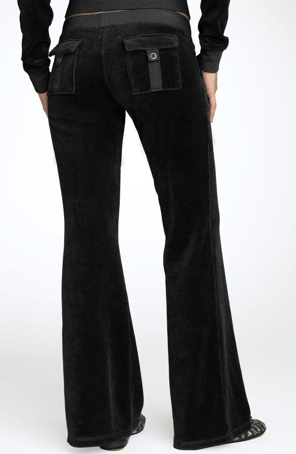 Juicy Couture Velour Pocket Pants In Black Lyst
