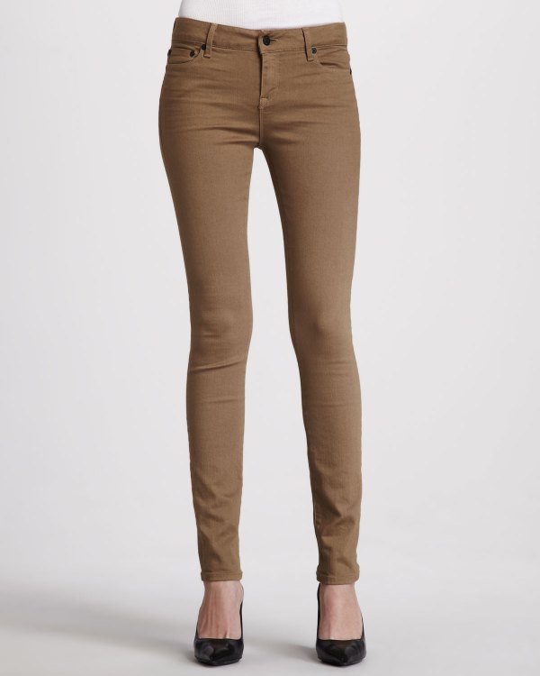 Vince Skinny Jeans Khaki In Natural Lyst