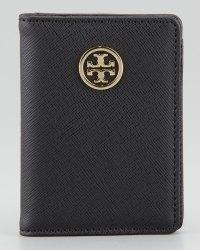 Lyst - Tory Burch Robinson Passport Holder in Black
