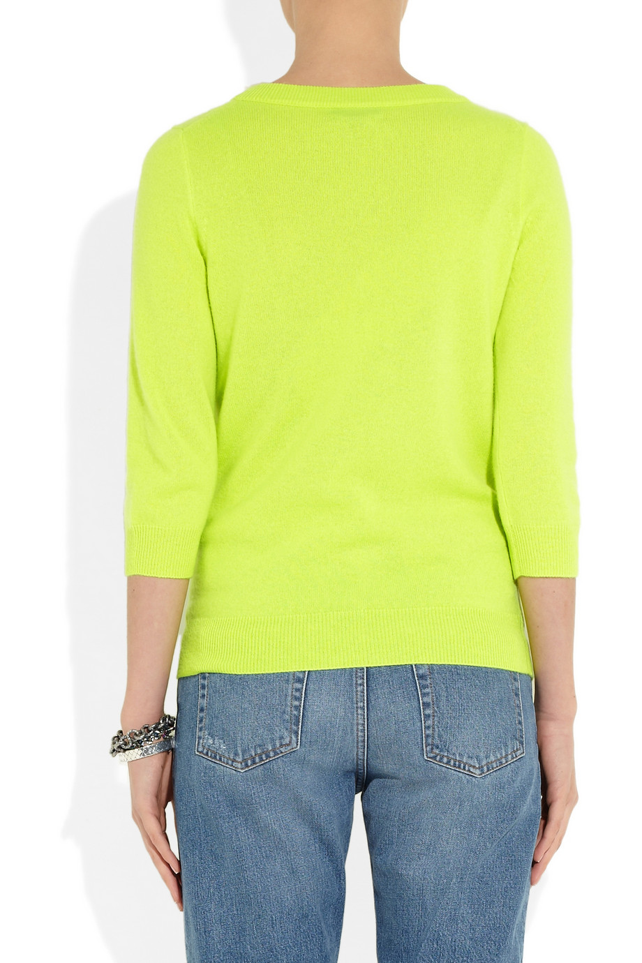 Lime Green Cashmere Sweater  Her Sweater