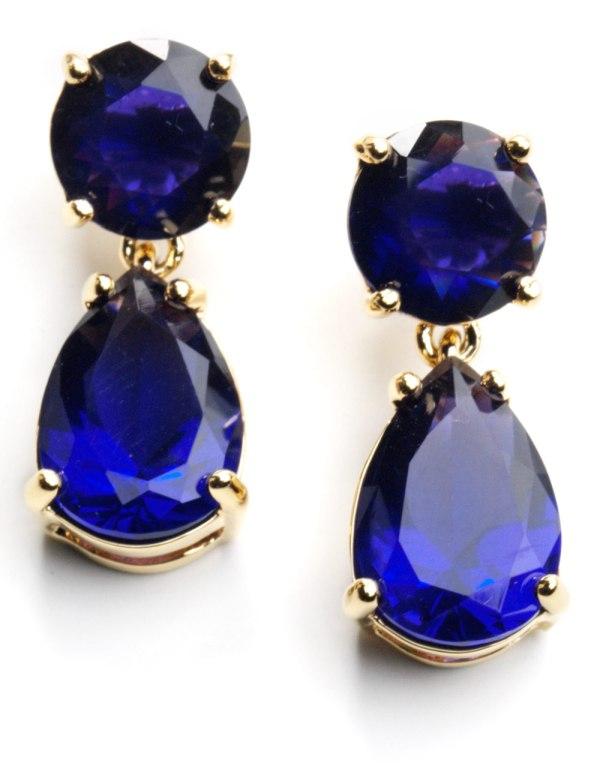 Kate Spade York Double Drop Earrings In Blue Lyst