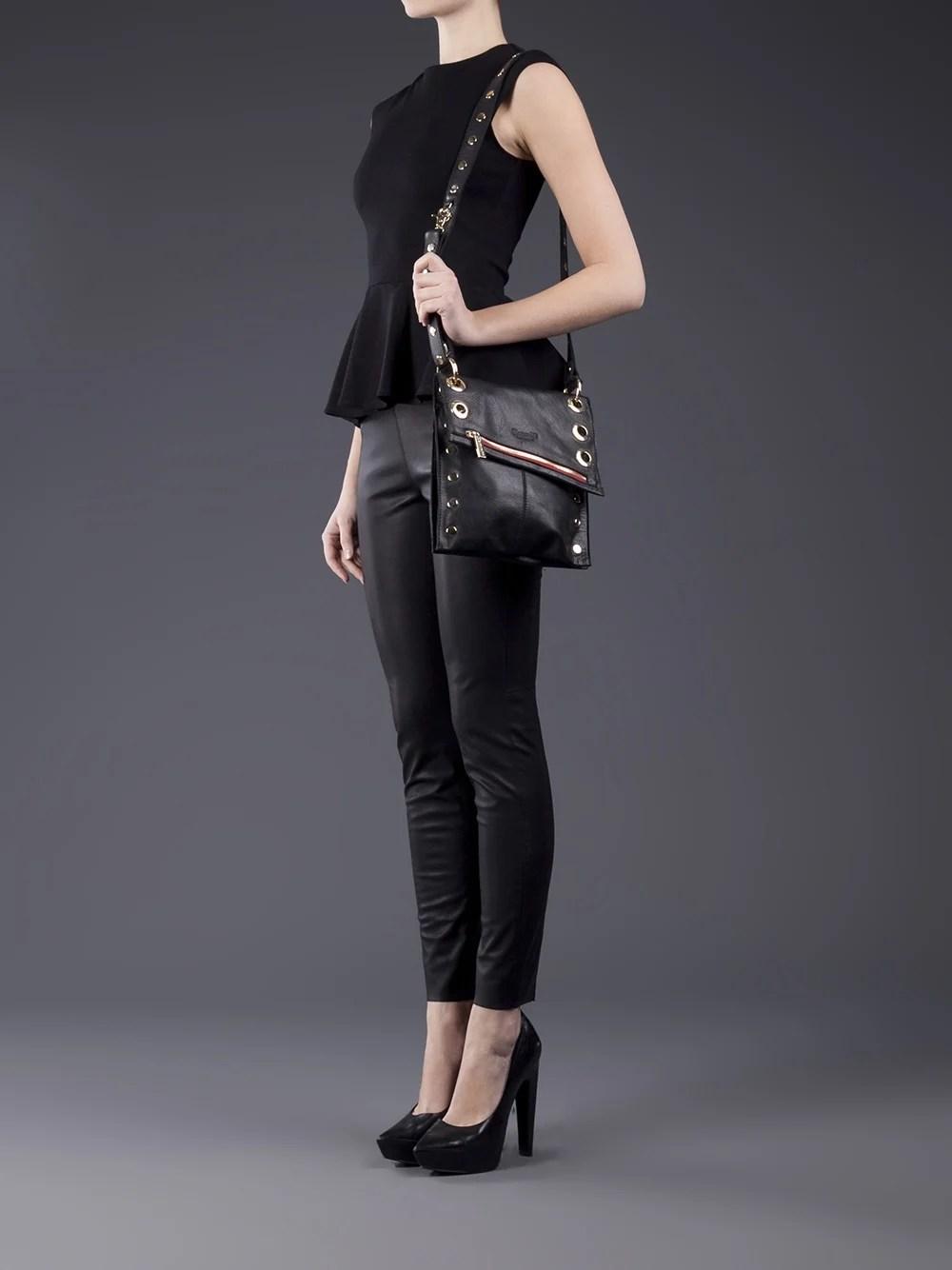 Lyst Hammitt Small Fold Over Leather Cross Body Bag In Black