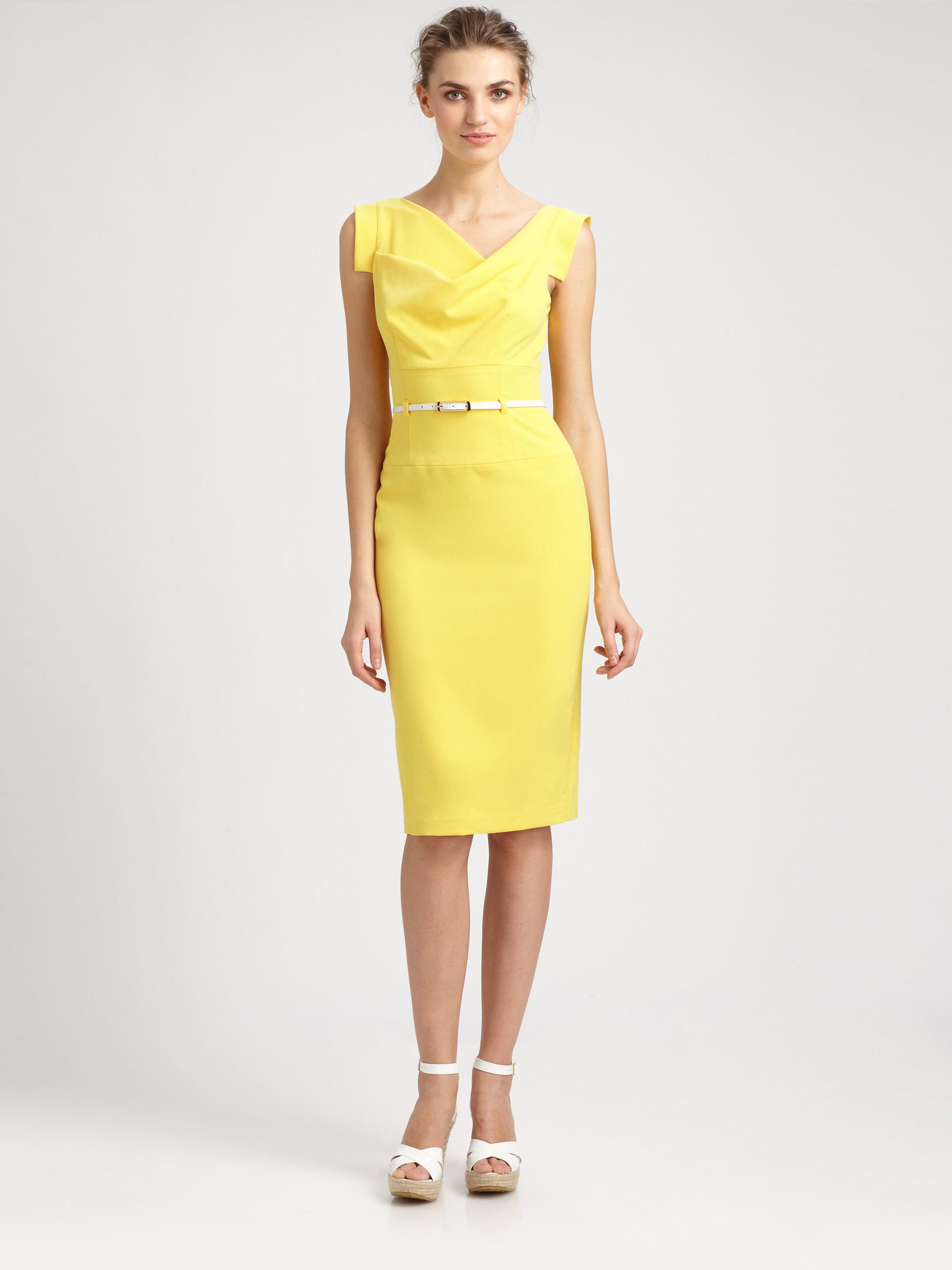 Black halo Jackie O Dress in Yellow  Lyst