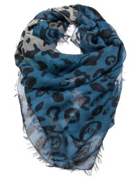 Mcq By Alexander Mcqueen Animal Print Scarf in Blue ...