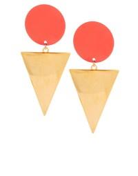Lyst - Asos Xl Spot Triangle Doorknocker Earrings in Metallic