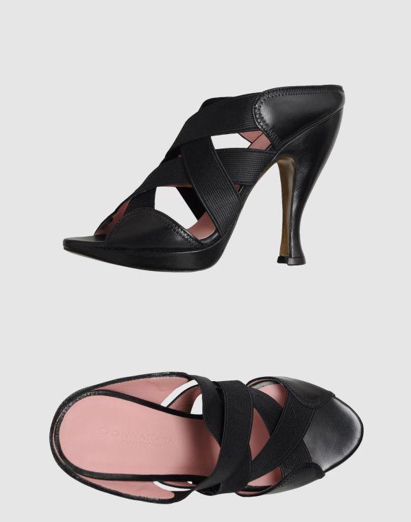 Donna Karan York Platform Sandals In Black Lyst