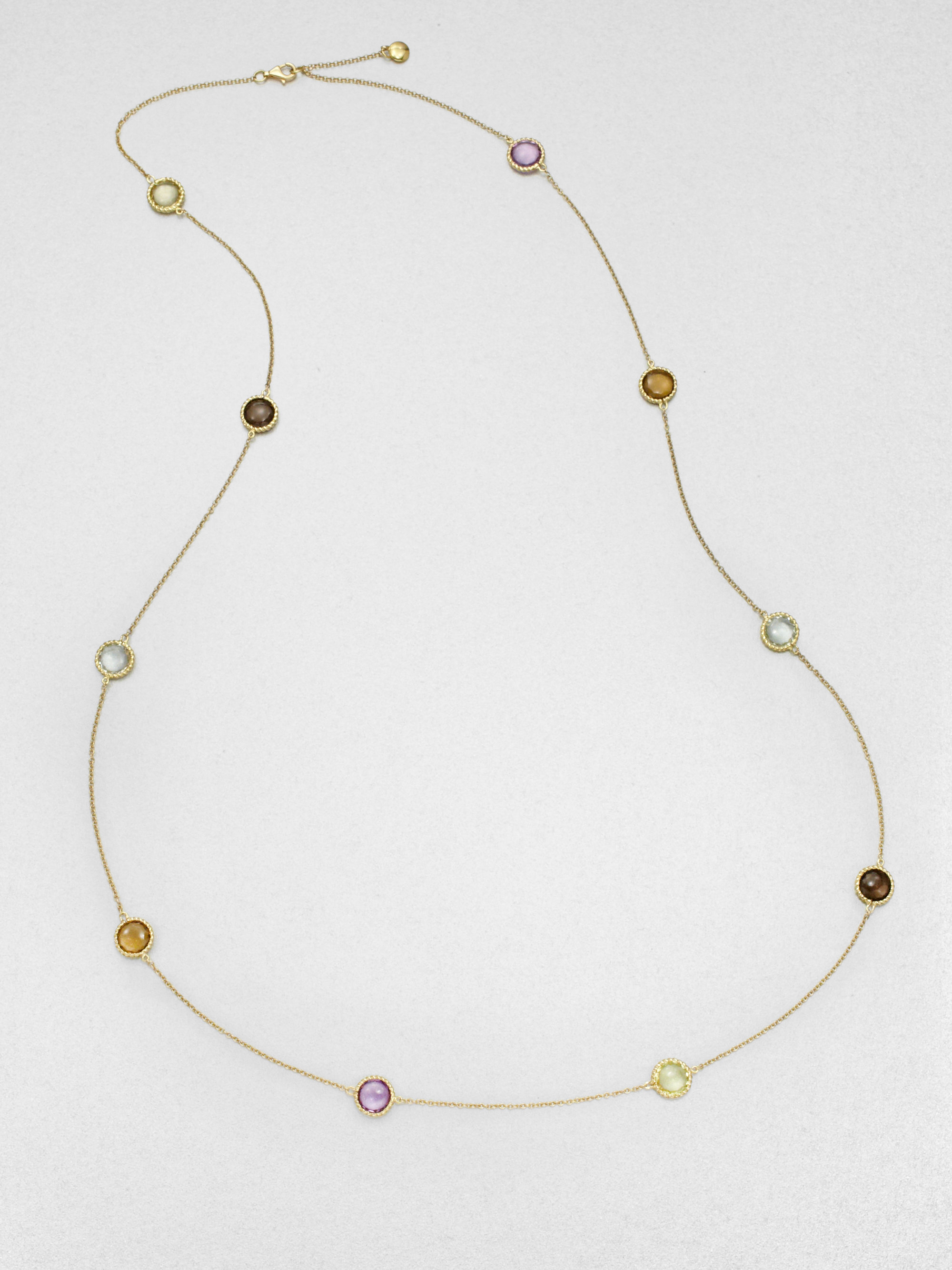 Roberto Coin 18k Yellow Gold Multistone Necklace in Yellow