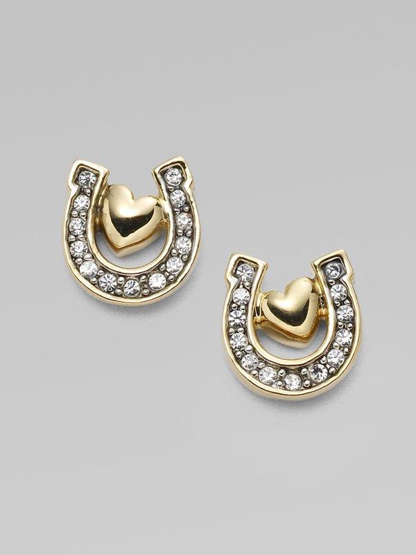 Lyst - Juicy Couture Horseshoe Earrings In Metallic