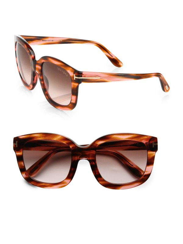 Tom Ford Christophe Acetate Sunglasses In Brown Lyst