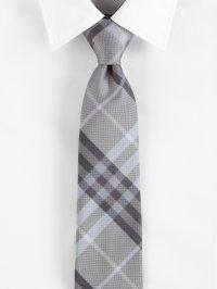 Burberry Wisteria Check Tie in Gray for Men | Lyst