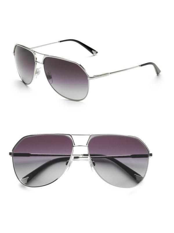 Dolce & Gabbana Metal Aviator Sunglasses In Gold Men
