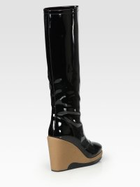 Marc By Marc Jacobs Patent Leather Knee-high Wedge Rain ...