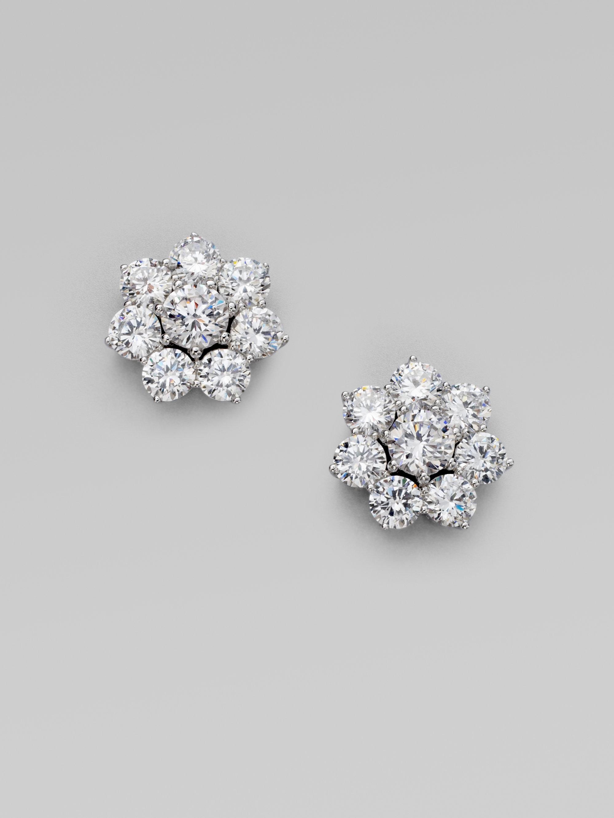 Adriana orsini Sterling Silver Flower Stud Earrings in