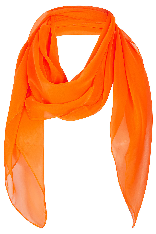 Lyst Topshop Plain Chiffon Square Scarf In Orange