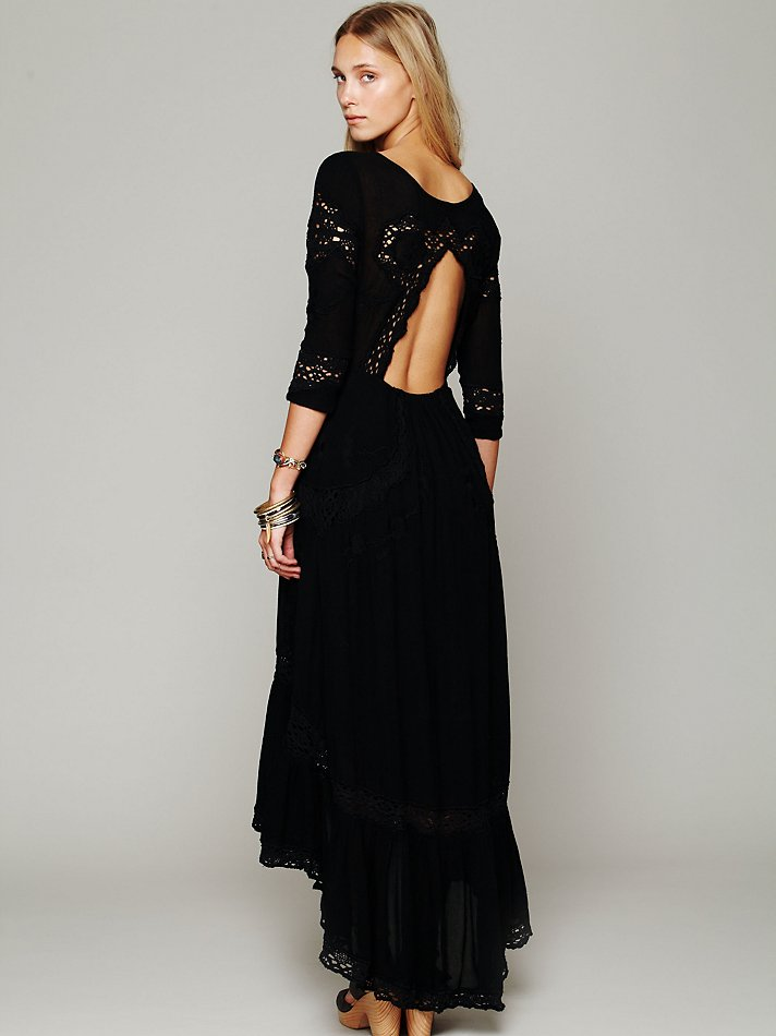 Free people Mexican Wedding Dress in Black  Lyst