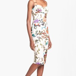 328ee95c Lyst Ted Baker Midsummer Floral Stretch Jersey Midi Dress In Natural