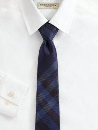 Lyst - Burberry Silk Checkprint Tie in Blue for Men