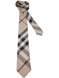 Lyst - Burberry Classic Check Print Tie in Natural for Men