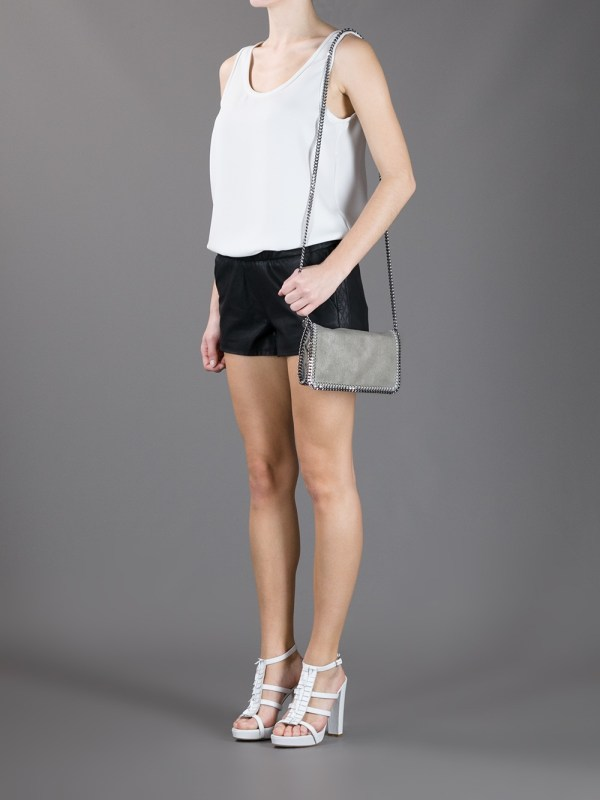 Lyst - Stella Mccartney Falabella Cross Body Bag In Gray