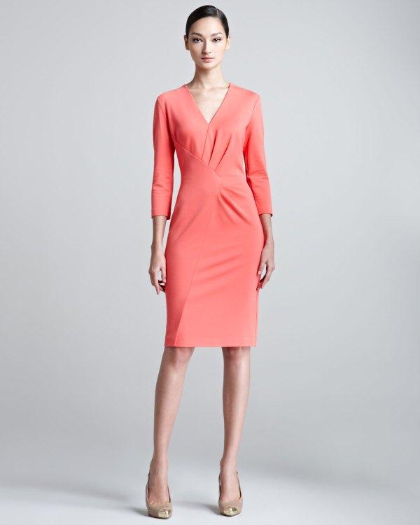Lyst - Escada Duoyan Dondi -neck Jersey Dress In Pink