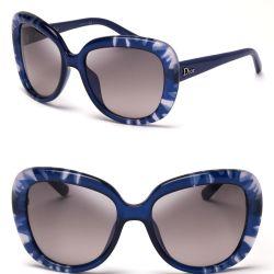 893ef85b6824 Lyst Dior Oversized Tie Dye Print Sunglasses In Blue
