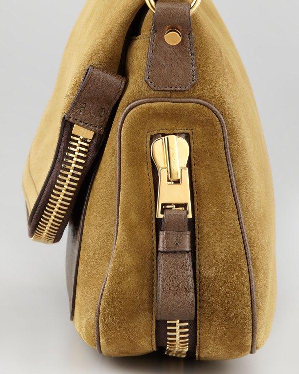 Tom Ford Jennifer Medium Leather Crossbody Bag In Brown Lyst