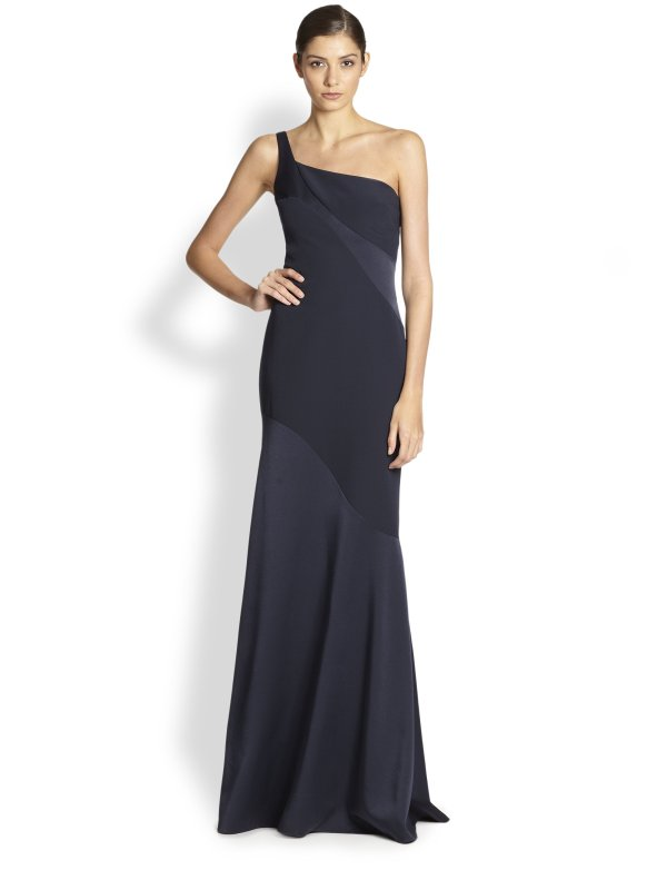 David Meister -shoulder Gown In Black - Lyst