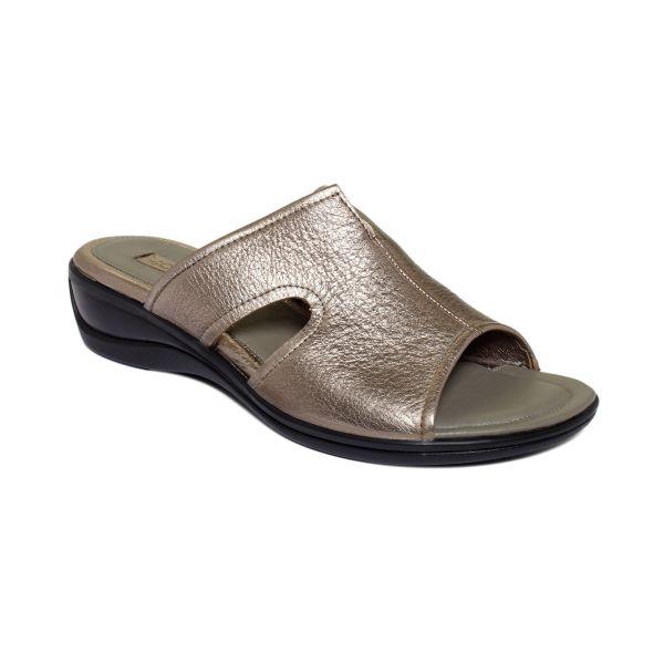 Ecco Sensata Slide Sandals In Gray Black Lyst