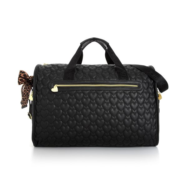 Lyst - Betsey Johnson Quilted Weekender In Black