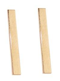 Lyst - Jennifer Meyer Long Bar Stud Earrings in Pink