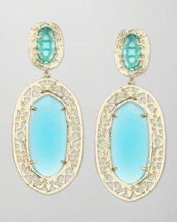Lyst - Kendra Scott Darian Scrollborder Earrings Turquoise ...