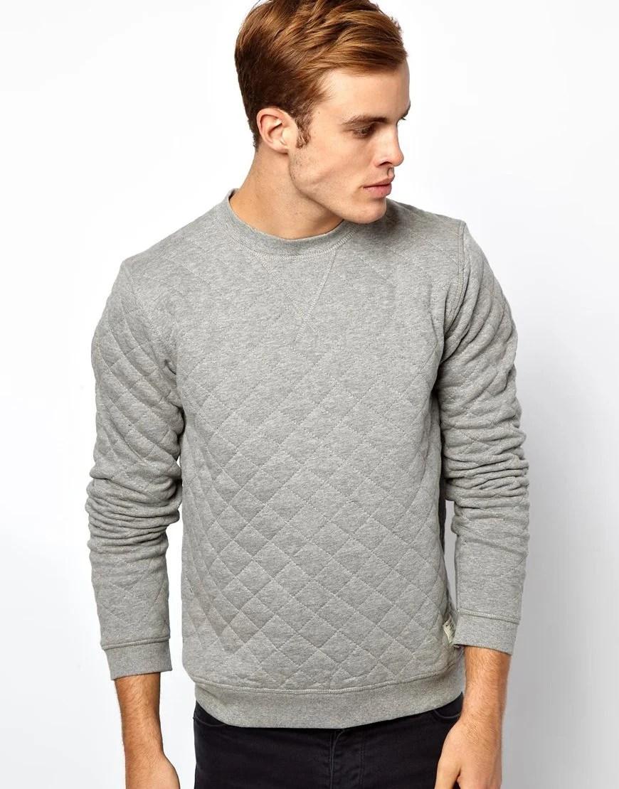 Lyst  Mouille Jack Jones Quilted Sweatshirt in Gray for Men