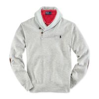 Ralph Lauren Shawl Collar Fleece Pullover in Gray for Men