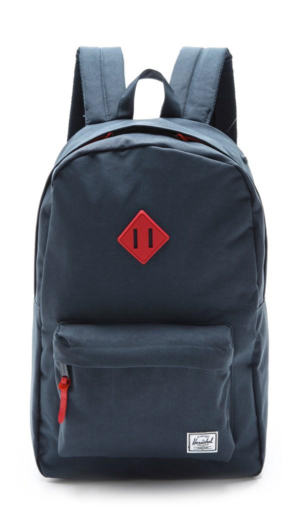 Herschel Supply . Heritage Backpack In Blue Navy Red