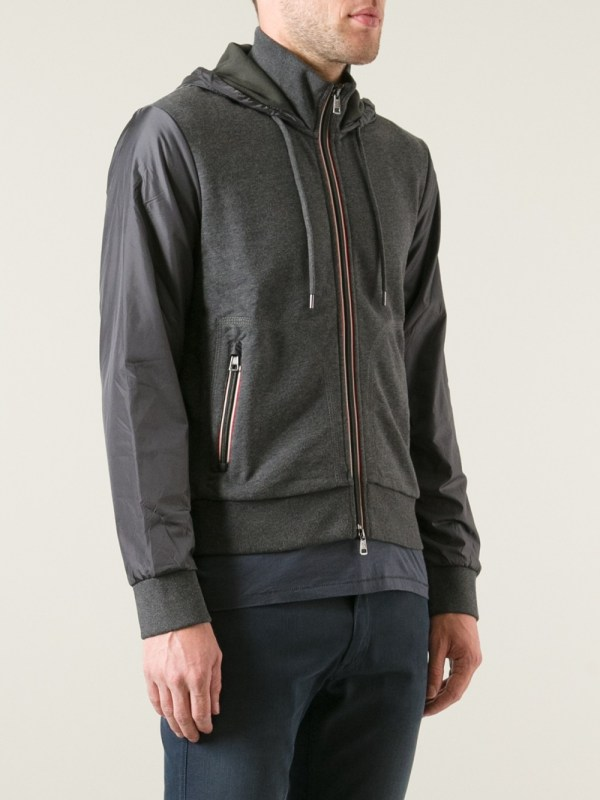 Lyst - Moncler Two Tone Jacket In Gray Men