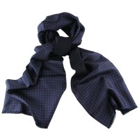 Black.Co.Uk Navy Blue And Red Polka Dot Italian Silk Scarf ...